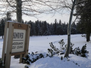Sunriver Golf Course under snow