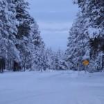 Pretty Snow Covered Entrance Area, Sunriver Resort