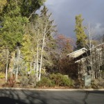 Bend Oregon Home Under Stormy Sky
