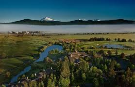 Facing Northwest, overlooking Sunriver Meadow, Sunriver, Big Deschutes River, Golf Course & Mt Bachelor